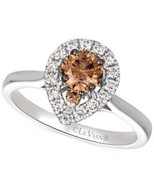 Diamond Ring (3/4 ct. t.w.) in 14k Rose Gold & 14k White Gold