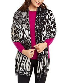 INC Mixed-Animal-Print Pashmina, Created for Macy's