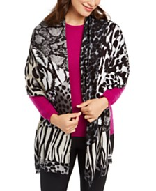 I.N.C. Mixed-Animal-Print Pashmina, Created for Macy's