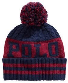 Men's Aran Cuffed Pom Pom Hat