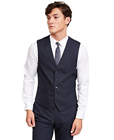 INC Men's Slim-Fit Micro Check Suit Vest, Created for Macy's