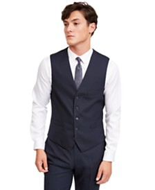 I.N.C. Men's Slim-Fit Micro Check Suit Vest, Created for Macy's