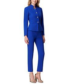 Star-Neck Pants Suit