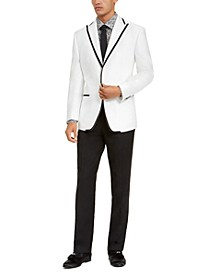 Men's Classic-Fit White/Black Tuxedo Suit Separates