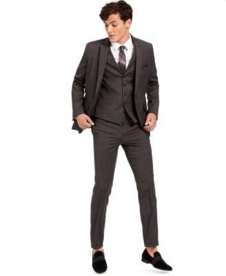 INC Men's Slim-Fit Crosshatch Suit Vest, Created for Macy's