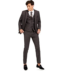 I.N.C. Men's Slim-Fit Crosshatch Suit Separates, Created for Macy's