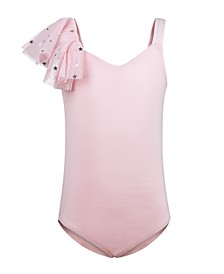 Little & Big Girls Flutter-Shoulder Leotard