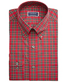 Men's Big & Tall Classic/Regular-Fit Wrinkle-Resistant Tartan Dress Shirt, Created For Macy's