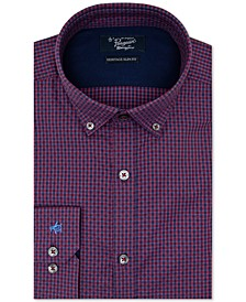 Men's Heritage Slim-Fit Performance Stretch Dot Check Dress Shirt