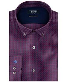 Men's Heritage Slim-Fit Performance Stretch Dot Check Dress Shirt