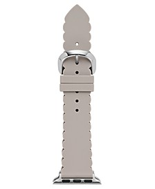 Women's Interchangeable Taupe Scalloped Silicone Apple Watch Strap 38mm/40mm