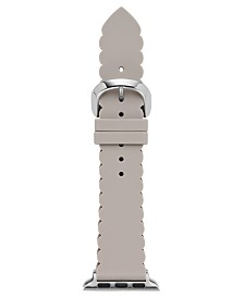 Kate Spade New York Women's Interchangeable Taupe Scalloped Silicone Apple Watch Strap 38mm/40mm