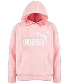 Puma Big Girls Logo-Print Fleece Hoodie