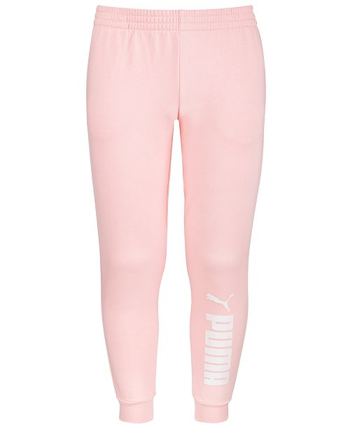 Puma North America Puma Big Girls Fleece Jogger Pants