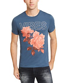 Men's Vibes Floral Graphic T-Shirt