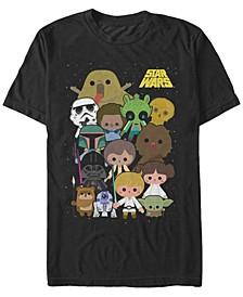 Men's Classic Cute Cartoon Cast Short Sleeve T-Shirt
