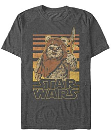 Men's Classic Ewok Gradient Stripes Short Sleeve T-Shirt