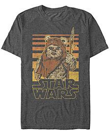 Star Wars Men's Classic Ewok Gradient Stripes Short Sleeve T-Shirt