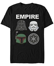 Men's Classic Empire Helmet Logos Short Sleeve T-Shirt