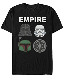 Star Wars Men's Classic Empire Helmet Logos Short Sleeve T-Shirt
