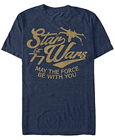 Men's Classic May The Force Be With You Text Short Sleeve T-Shirt