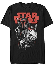 Star Wars Men's Classic Boba Fett Bounty Hunter Short Sleeve T-Shirt