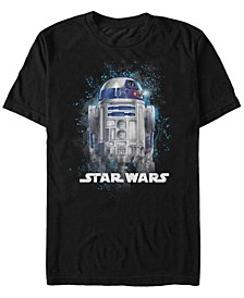 Men's Classic R2-D2 Paint Splatter Short Sleeve T-Shirt