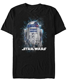 Star Wars Men's Classic R2-D2 Paint Splatter Short Sleeve T-Shirt