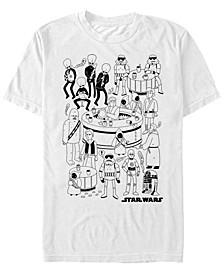 Men's Classic Cantina Cartoon Short Sleeve T-Shirt