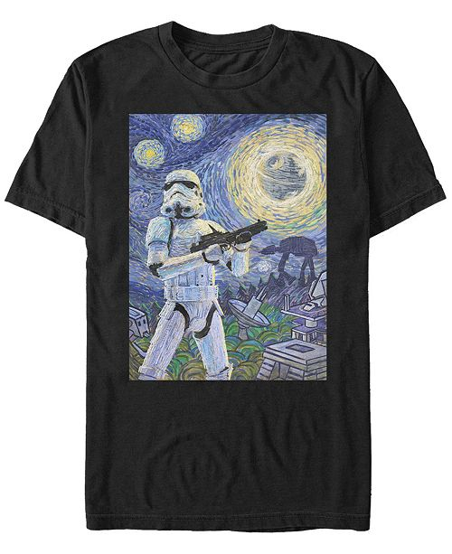 Star Wars Men's Stormtrooper A Stormy Night Short Sleeve T-Shirt