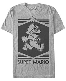 Men's Super Mario Star Short Sleeve T-Shirt