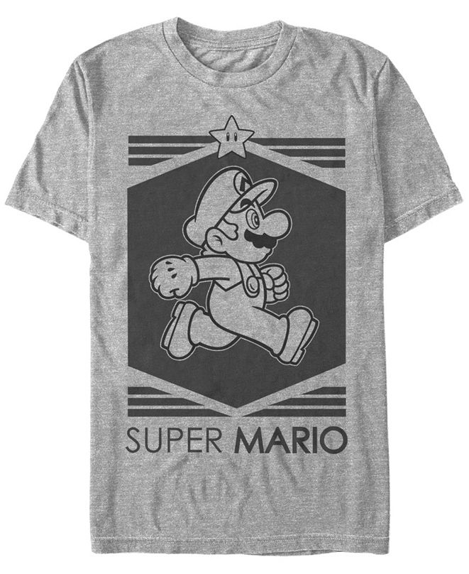 Nintendo Men's Super Mario Star Short Sleeve T-Shirt