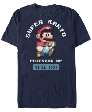 Nintendo Men's Super Mario Powering Up Since 1991 Short Sleeve T-Shirt