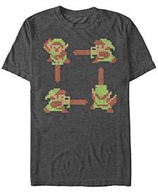 Men's Legend of Zelda 8-Bit Link Short Sleeve T-Shirt