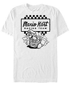 Nintendo Men's Mario Kart Retro Checkered Racing Team Short Sleeve T-Shirt