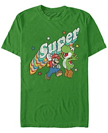 Nintendo Men's Super Mario Super Friends Mario Yoshi Short Sleeve T-Shirt