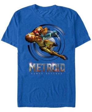 Nintendo Men's Metroid Samus Returns Short Sleeve T-Shirt
