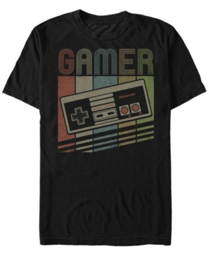 Nintendo Men's Nes Rainbow Retro Controller Short Sleeve T-Shirt