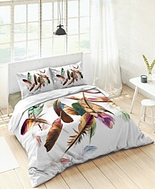 Kaliedo Feathers Duvet Set, Full/Queen