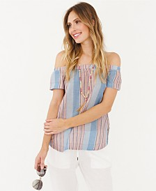 Plum Pretty Sugar Grand Terre off the Shoulder Top