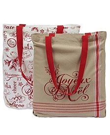 VintageofLike Xofmas Totes Set of 2
