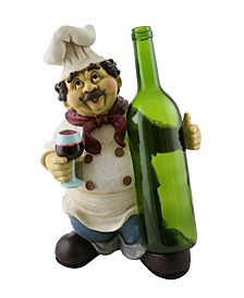 "13"" Chef Wine Bottle Holder"