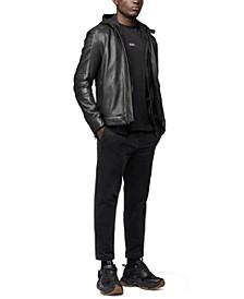 BOSS Men's Leather Biker Jacket