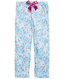 Little & Big Girls Unicorn-Print Pajama Pants, Created for Macy's