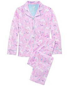 Little & Big Girls  2-Pc. Unicorn-Print Pajamas Set