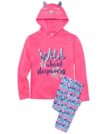 Max & Olivia Little & Big Girls  2-Pc. Wild About Sleepovers Pajamas Set