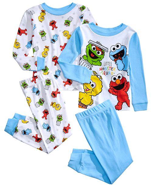 AME Toddler Boys 4-Pc. Cotton Monster Squad Pajamas Set