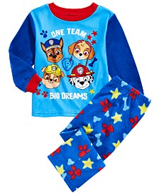 AME Toddler Boys 2-Pc. Paw Patrol Fleece Pajamas Set