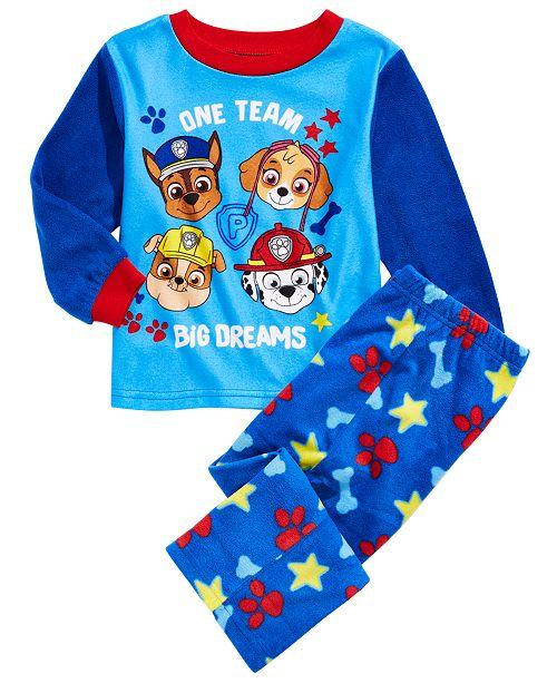 AME Toddler Boys 2-Pc. Paw Patrol Fleece Pajamas Set