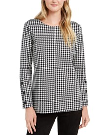 Tommy Hilfiger Houndstooth Tunic